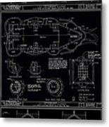 Lucy The Elephant Building Patent Blueprint 3 Metal Print