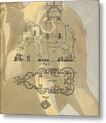 Lucy The Elephant Building Patent Metal Print