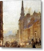 Ludgate Hill From The Steps Of The Cathedral Metal Print
