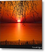 Ludington Sunset April 2016 Metal Print