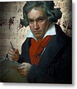 Ludwig Van Beethoven 1820 Metal Print