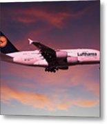 Lufthansa Airbus A380 D-aimh Metal Print