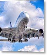 Lufthansa Airbus A380 In Hdr Metal Print