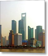 Lujiazui - Pudong Shanghai Metal Print by Christine Till