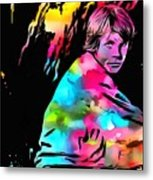Luke Skywalker Paint Splatter Metal Print