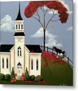 Lulabelle Goes To Church Metal Print