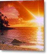 Lumahai Beach Sunset Metal Print