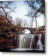 Lumb Falls Panoramic Metal Print