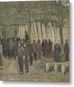 Lumber Sale Nuenen  January 1884 Vincent Van Gogh  1853  1890 Metal Print