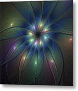 Luminous Fractal Art Metal Print