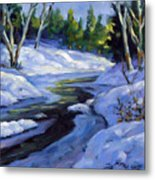 Luminous Snow Metal Print