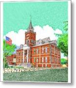 Luna County Court House  Deming  N M   Metal Print