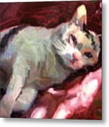 Luna In The Sun Metal Print