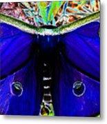 Luna Moth Uv Pano Metal Print