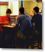Lunch At The Cafe Downtown Metal Print