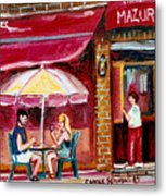 Lunch At The Mazurka Metal Print