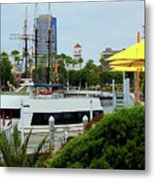 Lunch At The Pier Metal Print