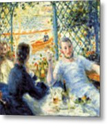 Lunch At The Restaurant Fournaise, The Rower's Lunch Metal Print