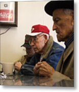 Lunch Counter Boys Metal Print