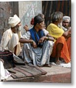 Lunch In Jaipur India Metal Print