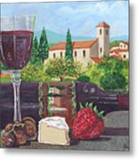 Lunch In Provence Metal Print