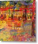 Lunch On The Terrace Metal Print