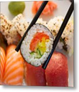 Lunch With  Sushi  Metal Print