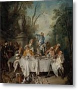 Luncheon Party In A Park Metal Print