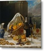 Luncheon Still Life, At And By John F. Francis Metal Print