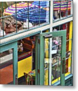 Lunchtime At The Market Metal Print