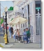 Lunchtime In Florence, Or Metal Print