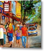 Lunchtime On Mainstreet Metal Print