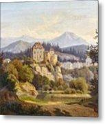 Lunde, Anders Christian Copenhagen 1809 - 1886 Grotta Ferrata. Oil On Canvas. Relined Metal Print