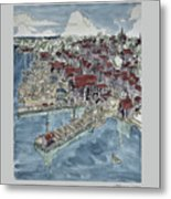 Lunenburg Port Metal Print