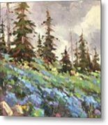 Lupines And Bluebells Metal Print