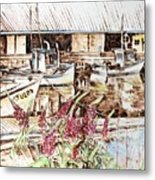 Lupines At Murray Harbour Metal Print