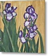 Luscious Iris Metal Print