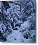 Luscious Snowfall Metal Print