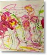 Lush Flowers Metal Print