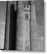 Lusk Round Tower B And W Metal Print