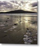 Luskentyre Beach Sunset Metal Print