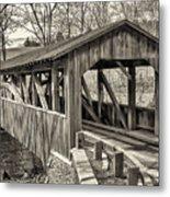 Luther Mills Bridge In Monochrome Metal Print