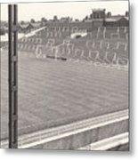 Luton Town - Kenilworth Road - Kenilworth Terrace North Goal 1 - Bw - August 1969 Metal Print