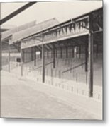 Luton Town - Kenilworth Road - Oak Road Terrace South Goal 1 - Bw - April 1969 Metal Print