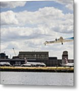 Lux Air London City Airport Metal Print