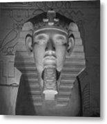 Luxor Interior 2 B W Metal Print