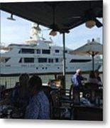 Luxurious Boat In Galveston  Metal Print