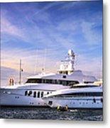 Luxury Yachts Metal Print