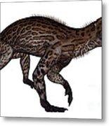 Lycaenops Dinosaur Walking, White Metal Print