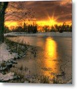 Lydiard Sunset Metal Print